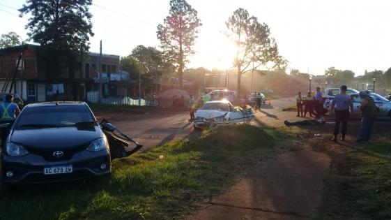 Tremendo choque con heridos en Garupá