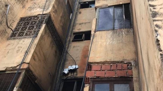Instan a Iprodha a inspeccionar edificio con peligro de derrumbe