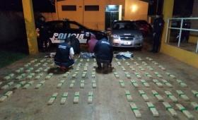 Incautaron más de 94 kilos de marihuana en San Vicente