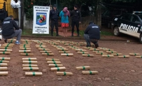 San Vicente: incautaron otros 102 kilos de marihuana en casa de un narco