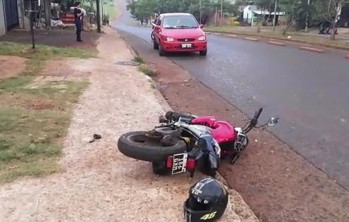 Motociclista herido en avenida Cabo de Hornos