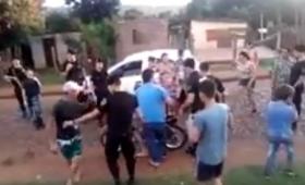 Vecinos apedrearon a policías durante un operativo