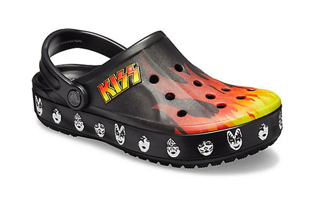Kiss presentó su propia línea de crocs
