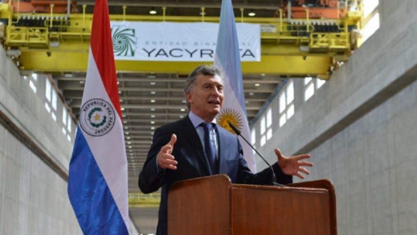 Macri visitará Yacyretá el viernes 26 de julio