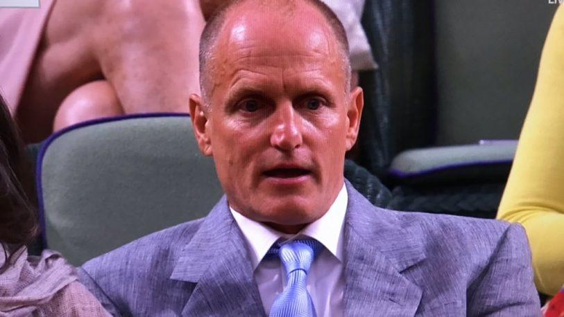Woody Harrelson y su extraño comportamiento en Wimbledon