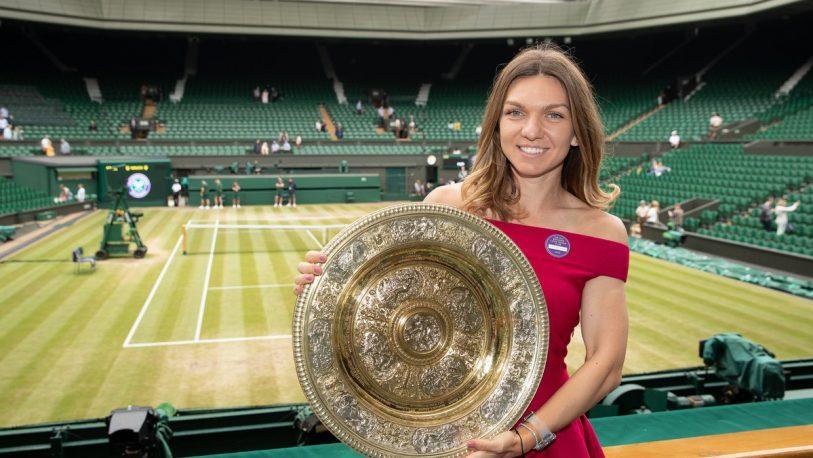 Halep celebró su consagración en Wimbledon