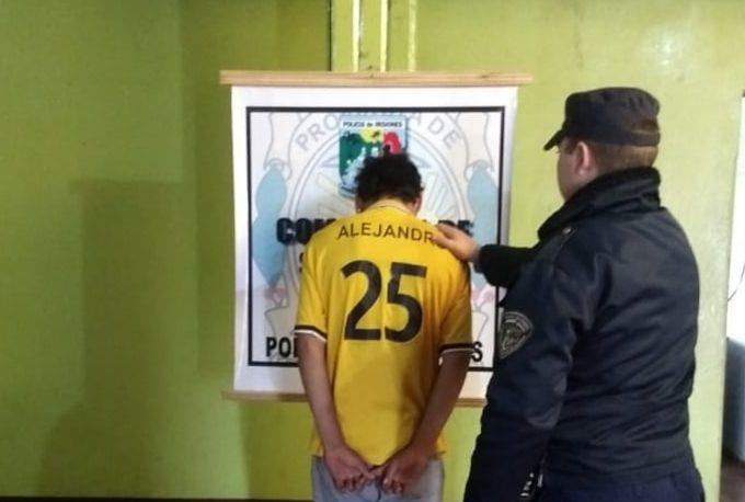 Detenido tras ser grabado destrozando y robando en local