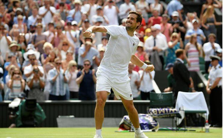 Pella bajó al finalista de Wimbledon 2018 y se metió en octavos