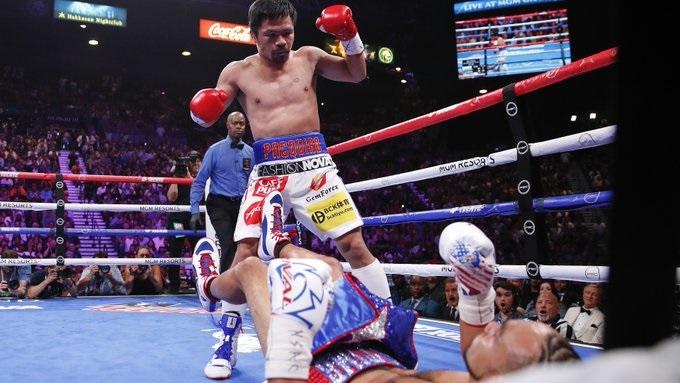 Manny Pacquiao gana la corona welter de la AMB
