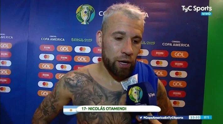 """Copa América: """"Nos vamos muy conformes"""", dijo Otamendi"""