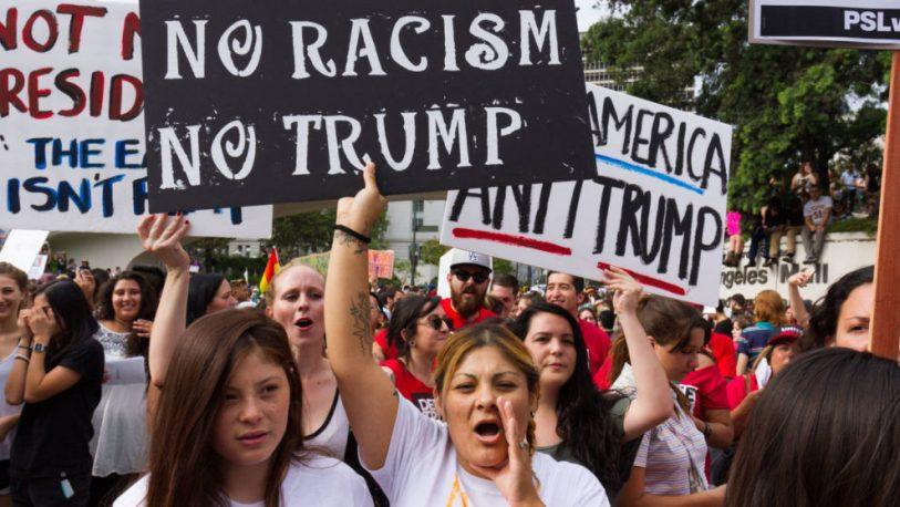 Activistas protestan en New York contra las redadas de inmigrantes