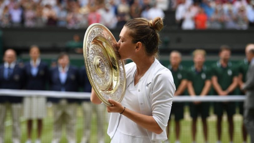 Simona Halep se coronó campeona en Wimbledon