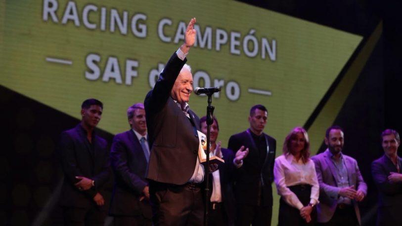 Racing campeón recibió el premio Superliga de Oro