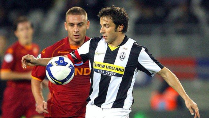 Del Piero saludó a De Rossi antes de su debut en Boca