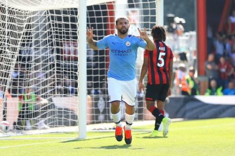 Doblete de Agüero y victoria de Manchester City sobre Bournemouth