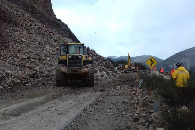 Habilitaron la ruta nacional 40 entre Bariloche y Villa la Angostura a 29 días del derrumbe