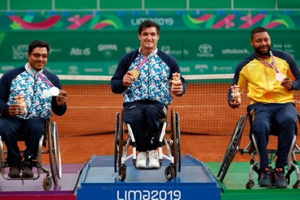 Tenis adaptado en Lima: Gustavo Fernández se consagró tricampeón