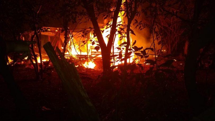 Incendio en el asentamiento de Chacra 159
