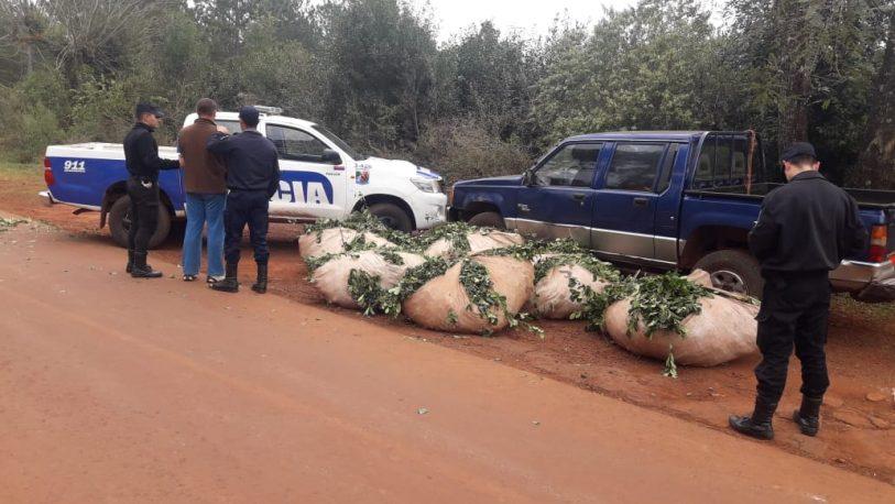 Secuestran más de 1000 kg de yerba mate robada y detienen a 5 personas