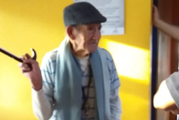 Abuelo de 100 años caminaba solo por Posadas
