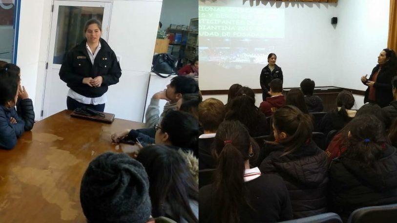 Charlas preventivas a alumnos que participan de la Estudiantina