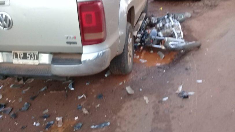 Choque dejó dos motociclistas heridos