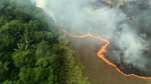 El humo de los incendios de Amazonia y Bolivia cubre gran parte del país
