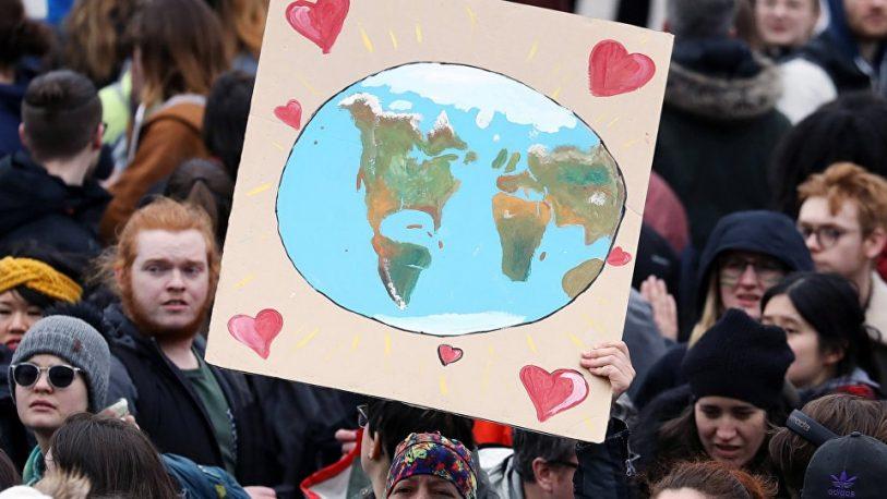 Ambientalistas marchan al Congreso contra el cambio climático