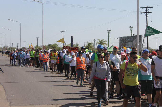 Más de 250 mil personas llegaron a Itatí por la 40 peregrinación juvenil