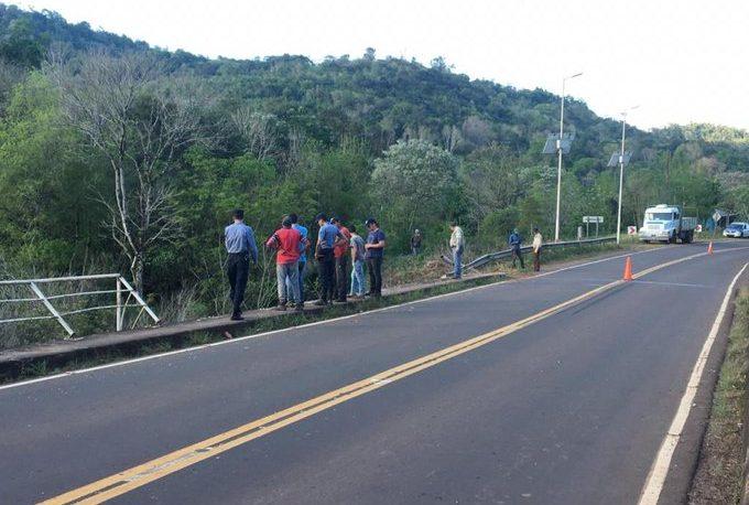 Piden precaución en el tránsito sobre puente Piray Miní