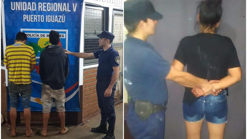 Tres detenidos por violento robo a remisero de Iguazú