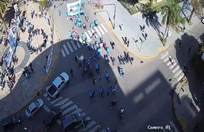 Resistencia: incidentes entre manifestantes y la policía