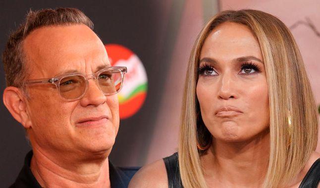 Tom Hanks se limpió la cara tras saludar a Jennifer López y estallaron las redes