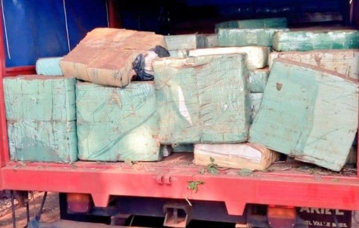 Cuatro Bocas: el pesaje de la droga fue de 4.450 kg