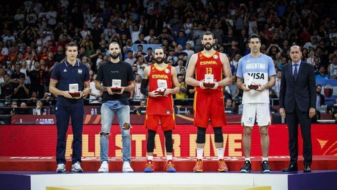 Scola integró el quinteto ideal del Mundial de China