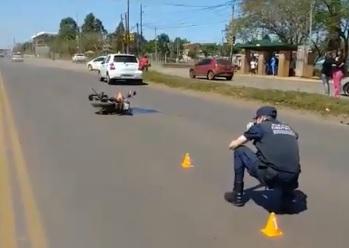 Otro motociclista herido en choque frente al campus