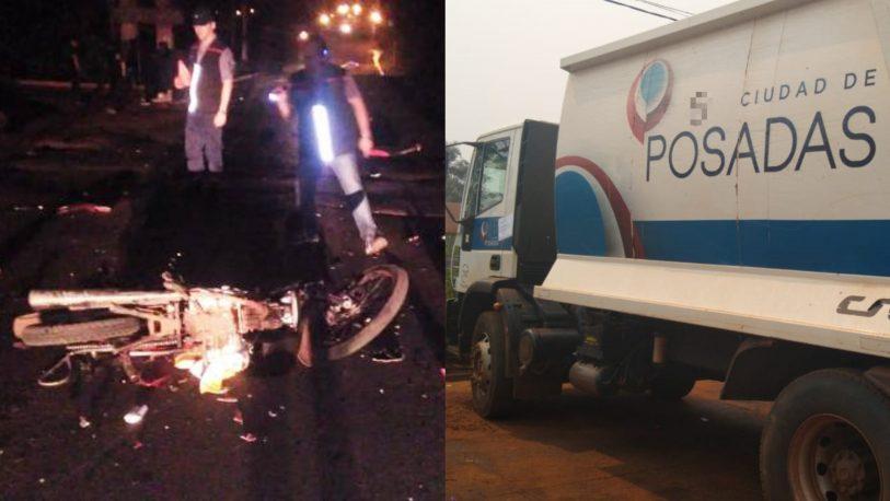 """El sobreviviente """"confirmó"""" que el camión municipal mató a los motociclistas"""