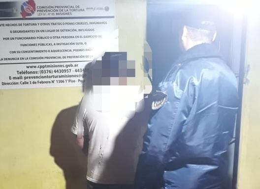 Violento fue detenido tras ser acusado de agredir y amenazar a su familia