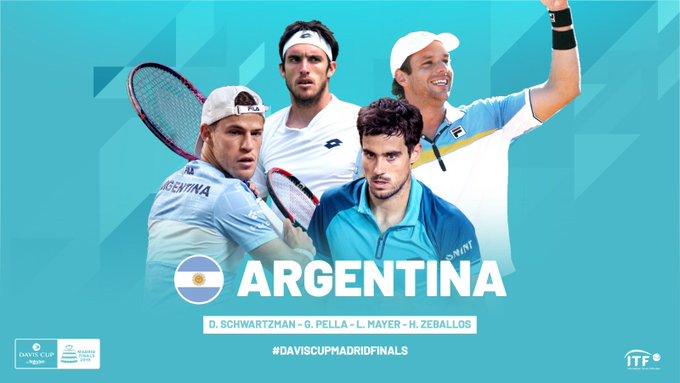 Schwartzman, Pella, Mayer y Zeballos en el equipo de Copa Davis