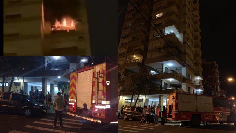 Se incendió departamento céntrico en Posadas