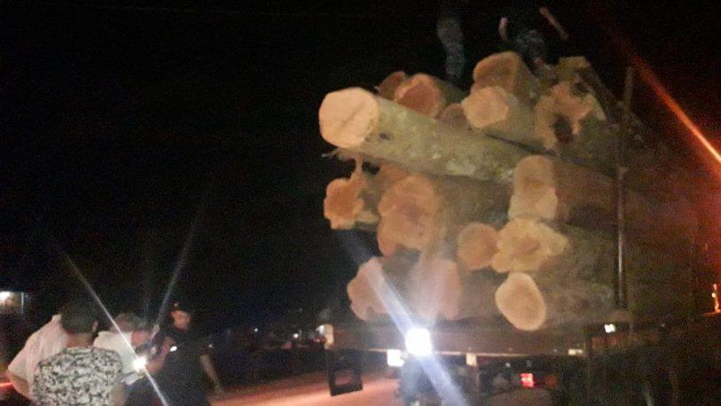 Secuestraron tres camiones y dos cargas de madera nativa