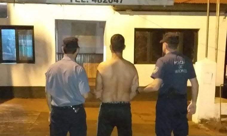 Agredió a su pareja, se atrincheró y fue detenido