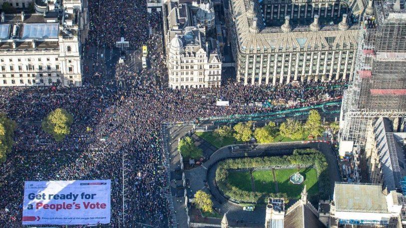 Londres: Más de un millón marcharon exigiendo frenar el Brexit