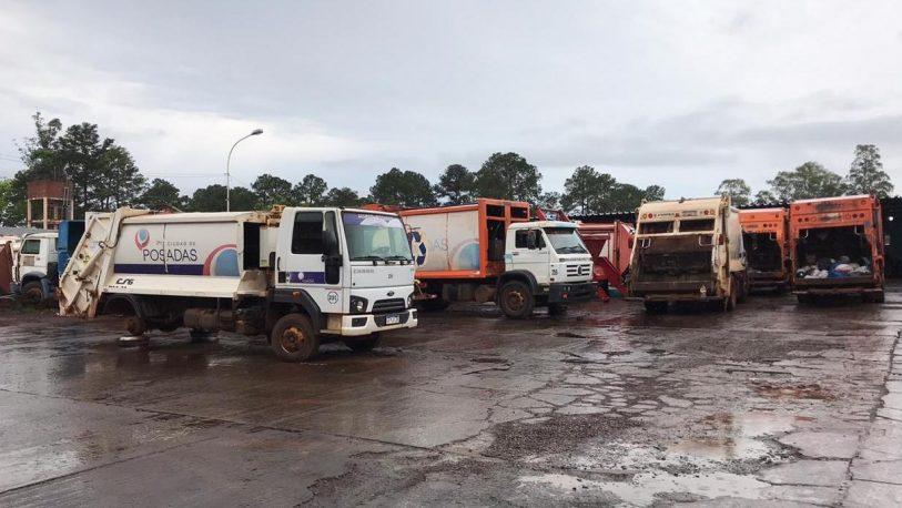Base Zaimán: cementerio de camiones recolectores