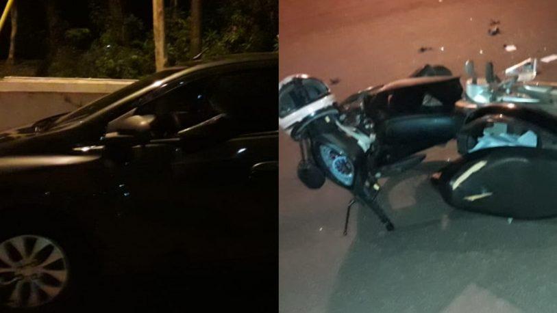 Un motociclista herido en siniestro