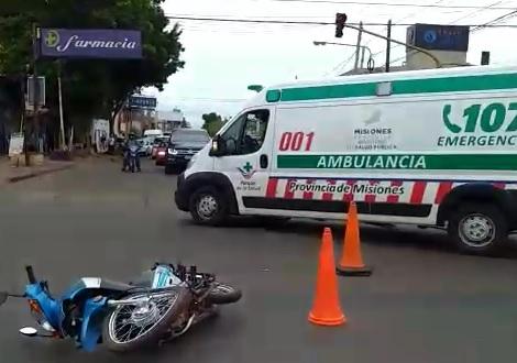 Una mujer resultó herida en un choque