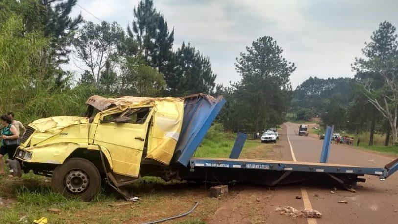 Despistó un camión cargado con mandioca
