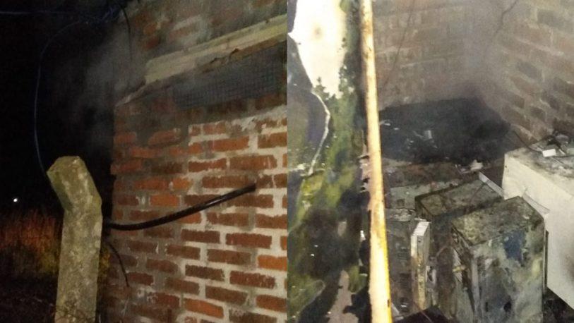 Se incendió la radio de Cacho Bárbaro en San Vicente
