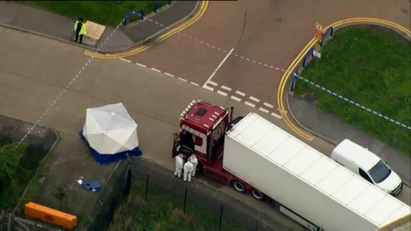 Horror en Londres: hallan 39 cadáveres en un contenedor