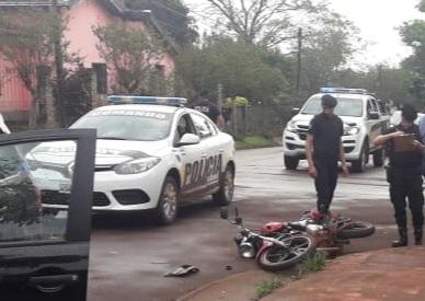 Siniestro vial dejó un motociclista lesionado en Oberá